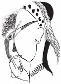 picture of fine art portrait  - Gypsy woman - JPG