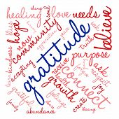 pic of gratitude  - Gratitude word cloud on a white background - JPG
