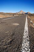 stock photo of trough  - Road trough Teide Volcanic Park in Tenerife Canary Island Spain - JPG