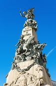picture of battle  - Detail of the Vitoria Battle monument Vitoria Spain - JPG