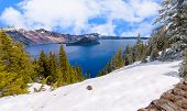 pic of klamath  - Crater Lake on a Bright Beautiful Day - JPG
