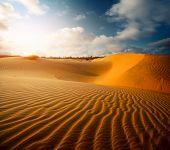 stock photo of dune  - Red dunes near the town of Mui Ne - JPG
