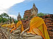 pic of piety  - Buddha ancient  at Yai Chai Mong Kol temple - JPG