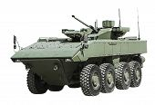 pic of amphibious  - armored personnel carrier on a unified platform battle isolated on a white background - JPG