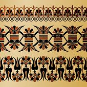 image of neo-classic  - Set of Ancient Greek floral ornament - JPG