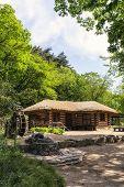 stock photo of shacks  - Old traditional Korean house near Baugil in daegwallyeong Gangneung South Korea - JPG