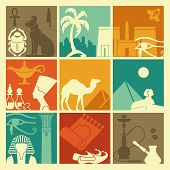 foto of hieroglyphic symbol  - Egyptian icons - JPG
