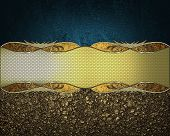 image of nameplates  - The texture of golden sand with a nameplate and blue texture - JPG