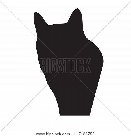 poster of Vector cat silhouette
