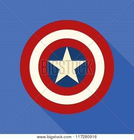 Shield with a star superhero