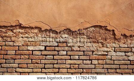 Terracotta Brick And Stucco Facade