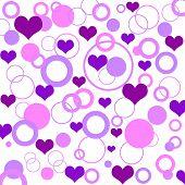 Постер, плакат: Ретро сердца шаблон