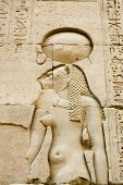 picture of horus  - Ancient Egyptian hieroglyphic sculpture of the lioness headed goddess Tefnut - JPG