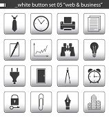 "White Button Set 05 ""Web & Business"""