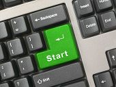 Keyboard - Green Key Start