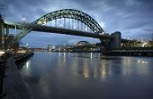 image of tyne  - Photograph of the Tyne Bridge in Newcastle upon Tyne/Gateshead at dawn.