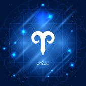 Постер, плакат: Aries sign of the zodiac