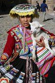 Indigenous Girl In Cusco, Peru