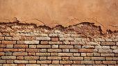 Terracotta Brick And Stucco Facade poster