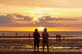picture of darwin  - sunset viewing mindil beach darwin northern territory australia - JPG