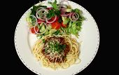 Spaghetti Bolognese And Salad poster