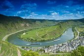 picture of moselle  - Vineyards at the moselle loop near Bremm - JPG