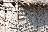 foto of mud-hut  - South African Traditional Mud and Stick Hut Home - JPG