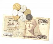 Greek Drachma And Coins