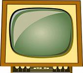 velho televisor vector