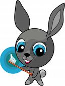 stock photo of buck teeth  - Funny cartoon bunny with tooth - JPG