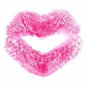 Kiss Print On White
