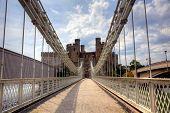 Suspension bridge and castle