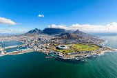 Aerial Photo Of Cape Town poster