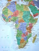 stock photo of land-mass  - This is the exact map of Africa and its countries within it - JPG