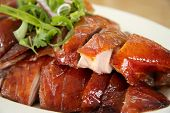 stock photo of chinese food  - Slices of roast duck traditional chinese cuisine
