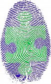 foto of crime solving  - Fingerprint with Puzzle - JPG