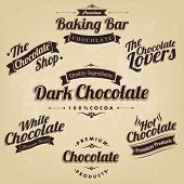 Premium Retro Chocolate Vintage And Label Set