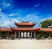 picture of pacific rim  - Gates of Lian Shan Shuang Lin Monastery - JPG