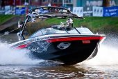 MELBOURNE, AUSTRALIA - MARCH 12: Nautique skiboat during the Moomba Masters waterski event on March