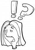 dibujos animados de la mujer sorprendida