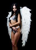 Provoke Sexual Desire. Divine Lovers. Impeccable Body. Fallen Angel. Attractive Sensual Woman Angel  poster