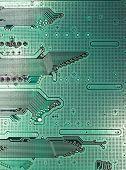 Modern Dark Green Circuit Board