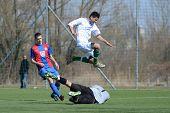 KAPOSVAR, HUNGARY - MARCH 17: Daniel Kara (goalkeeper) in action at the Hungarian National Champions