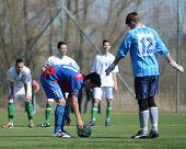 KAPOSVAR, HUNGARY - MARCH 17: Edvard Rusak (12) in action at the Hungarian National Championship und