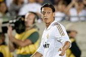 LOS ANGELES - JULY 16: Real Madrid C.F. M Mesut Ozil #23 during the World Football Challenge game on