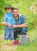 Personal Example. Little Helper In Garden. Planting Flowers. Growing Plants. Take Care Of Plants. Bo poster