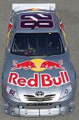 FONTANA, CA. - OCT 9: Sprint Cup Series driver Scott Speed in the Red Bull #82 car during the Pepsi Max 400 practice on Oct 9 2010 at the Auto Club Speedway.