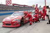 FONTANA, CA. - MARCH 27: Juan Pablo Montoya in the #42 Target Chevrolet pits during the NASCAR Sprin
