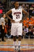LOS ANGELES - MARCH 10: Arizona Wildcats G Kyle Fogg #21 during the NCAA Pac-10 Tournament basketbal