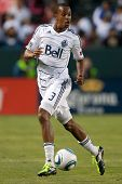 CARSON, CA. - JUNE 1: Vancouver Whitecaps FC D Bilal Duckett #3  during the MLS game between Vancouv